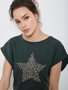 mint-velvet-khaki-hotfix-star-t-shirt-green