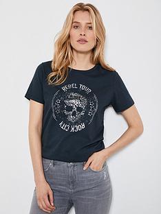 mint-velvet-embellished-skull-band-t-shirt-grey