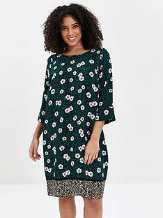 evans-floral-dress-green