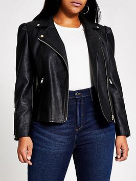 ri-plus-pu-puff-sleeve-biker-jacket--nbspblack