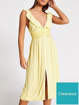 river-island-plunge-lace-insert-beach-midi-dress-yellow