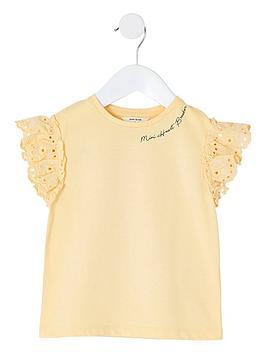 river-island-mini-girls-broderie-sleeve-t-shirt-yellow