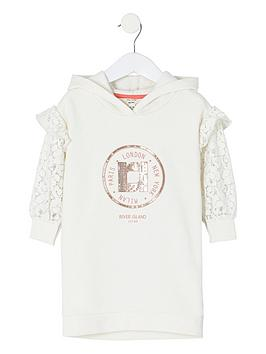river-island-mini-mini-girls-lace-sleeve-hoodie-dress-white