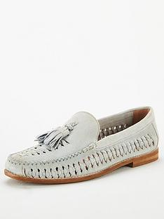 office-clapham-woven-tassle-loafers-blue-leather