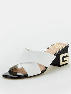 guess-madra-g-monogram-heel-mules-white