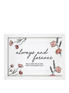 personalised-always-forever-a4-framed-print