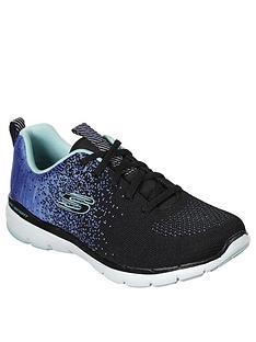 skechers-flex-appeal-30-trainer-black-blue