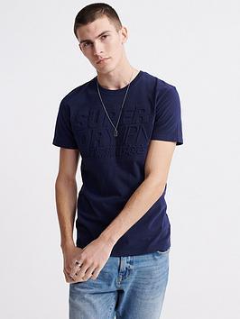 superdry-embossed-pastel-line-t-shirt-navy