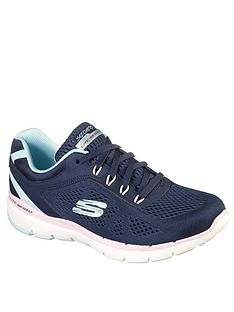 skechers-flex-appeal-30-steady-move-trainer-navy-pink