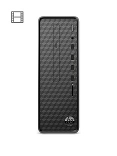hp-slim-s01-af0001na-intelreg-pentiumreg-j5005-4gb-ram-1tb-hard-drive-desktop-pc-with-optional-microsoft-office-365-home-1-year-black