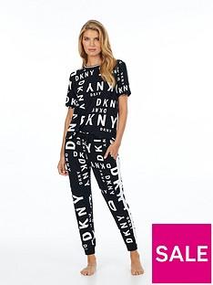 dkny-all-over-logo-short-sleeve-pjnbsptop-black