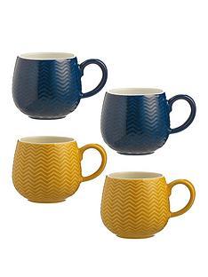 mason-cash-set-of-4-embossed-chevron-mugs
