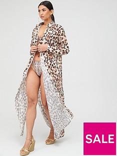 missguided-leopard-print-maxi-length-beach-shirt-brown