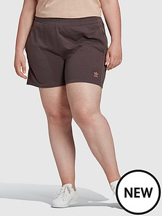 adidas-originals-new-neutral-3-stripes-plus-size-shorts-dark-brown