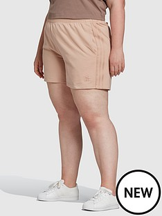 adidas-originals-new-neutral-3-stripes-plus-size-shorts-nude