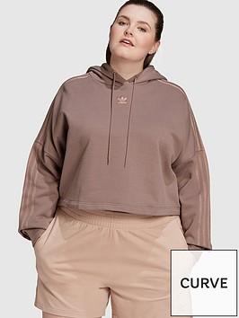adidas-originals-new-neutral-cropped-hoodie-plus-size-dark-brown