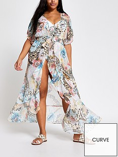 ri-plus-floral-waterfall-maxi-beach-kaftan-pink