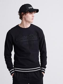 superdry-vintage-logo-embroidered-crew-sweatshirt-black