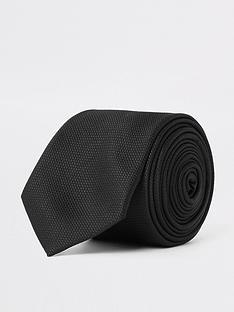 river-island-theo-textured-tie-black