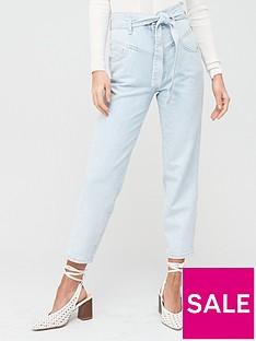 river-island-high-waist-peg-leg-jeans-blue
