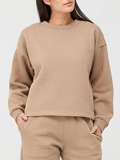 v-by-very-the-fashion-cropped-crew-neck-sweat-top-stone