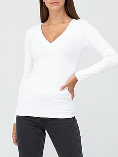 v-by-very-long-sleeve-wrap-top-white