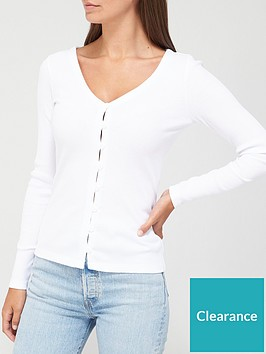 v-by-very-long-sleeve-rib-button-front-top-white