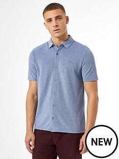 burton-menswear-london-short-sleeve-pique-shirt-ndash-blue