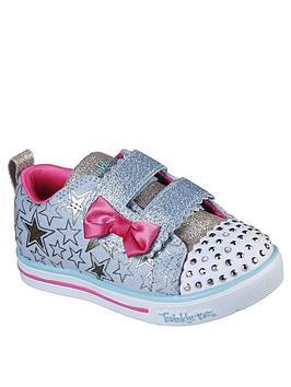skechers-toddler-girls-shuffle-lites-plimsolls-blue