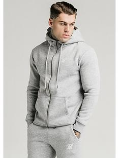 sik-silk-zip-through-funnel-neck-hoodie-grey-marl