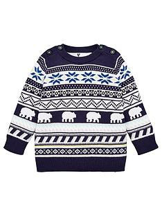v-by-very-boys-polar-bear-fairisle-christmasnbspjumper-navy