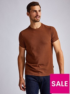 burton-menswear-london-waffle-camel-t-shirt-ndash-brownnbsp