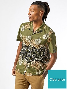 burton-menswear-london-short-sleeve-leaf-print-shirt-khaki