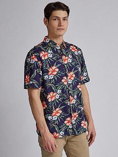 burton-menswear-london-short-sleeve-printed-shirt-navy