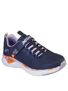 skechers-girls-solar-fuse-trainers-navy