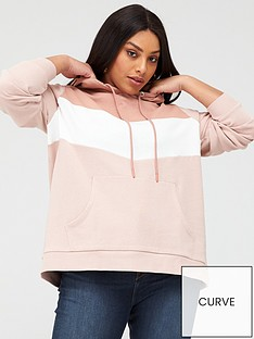 v-by-very-curve-colour-block-hoodie-pink