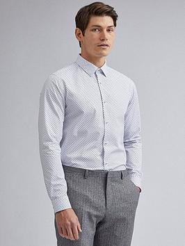burton-menswear-london-slim-fit-diamond-shirt-white