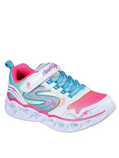 skechers-girls-heart-lights-trainers-white-multi