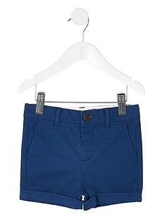 river-island-mini-boys-chino-short--navy