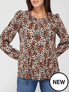 v-by-very-long-sleeve-plisse-crew-neck-top-animal