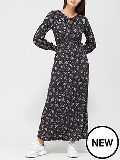 v-by-very-keyhole-midaxi-dress-black-print
