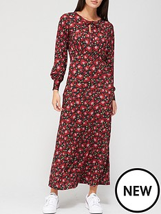 v-by-very-keyhole-midaxi-dress-red-floral