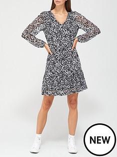v-by-very-mesh-v-neck-mini-dress-black-floral-print