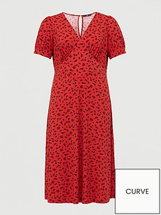 v-by-very-curve-v-neck-midi-dress-red-print
