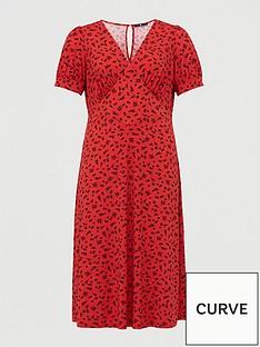 v-by-very-curve-v-neck-midi-dress-red-print