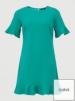 v-by-very-curve-jersey-crepe-shift-dress-green