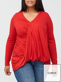 v-by-very-curve-drape-wrap-dipped-hem-jersey-top-red