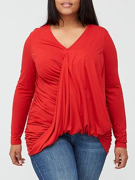 v-by-very-curve-drape-wrap-dipped-hem-jersey-top-red