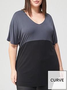 v-by-very-curve-valuenbspcupro-colourblock-t-shirt-grey-black