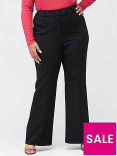 v-by-very-curve-ponte-stretch-kickflare-trouser-black